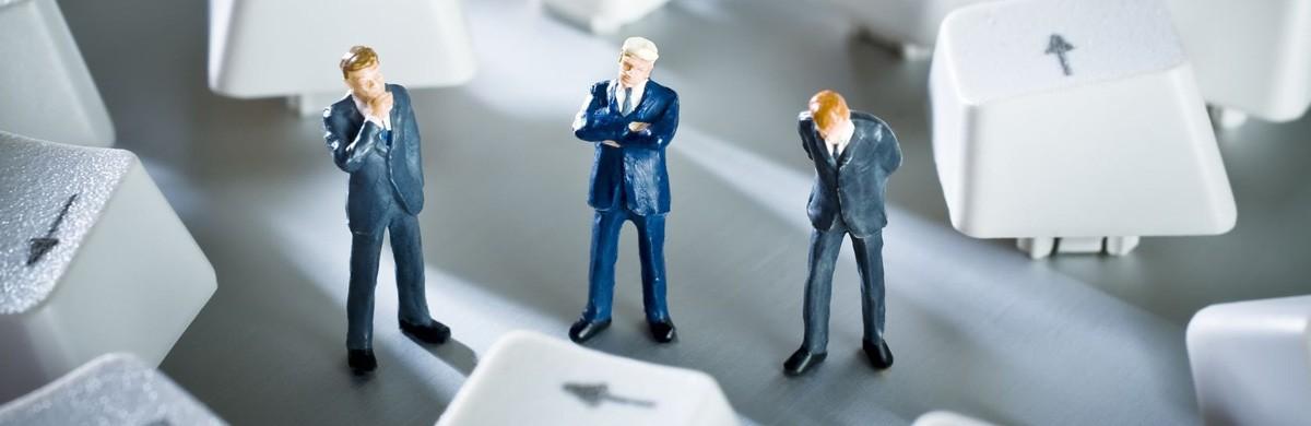 Miniatur Geschäftsmänner