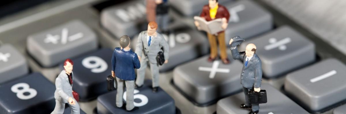 Miniaturen auf Taschenrechner